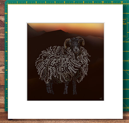Woolly Munros Mounted Giclee Print