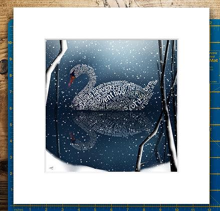 Silent Swan Mounted Giclee Print