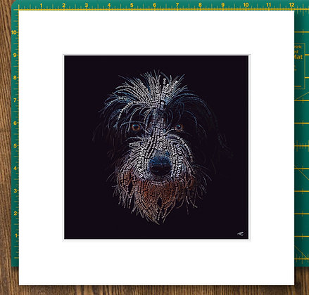 Working Dog Mounted Giclee Print
