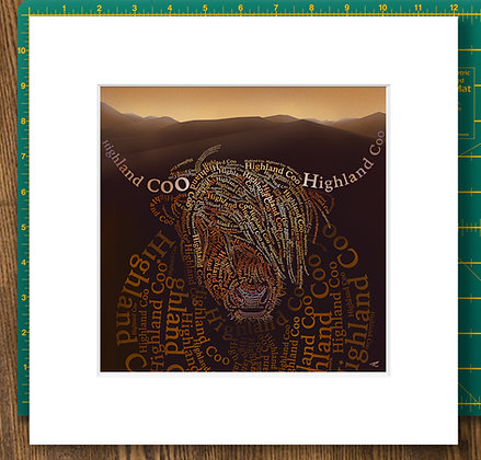 Messy Coo Mounted Giclee Print