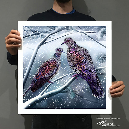 Two Turtle Doves Giclee Print