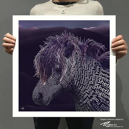 Gloomy Pony Giclee Print