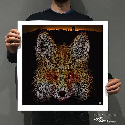 Urban Fox Giclee Print