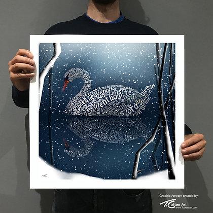 Silent Swan Giclee Print