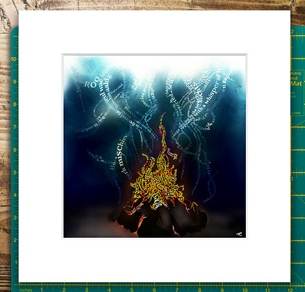 Tales by the Peat Fire Mounted Giclee Print