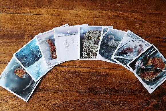 Winter Wonders 4 x Greetings Cards