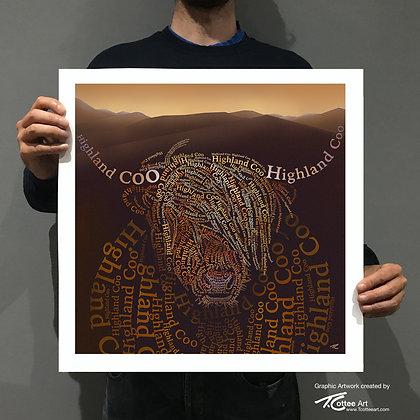 Messy Coo Giclee Print