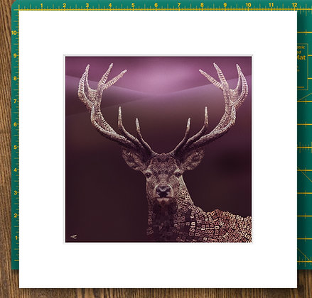 Proud Stag Giclee Mounted Print