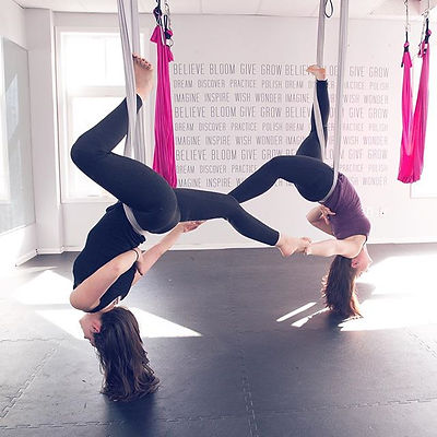 Rise and shine!  See you at 9_15 for yoga and 10 am for aerial arms and abs!  #yoga #aerialyoga