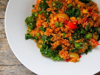 Quinoa with Mixed Vegetables (Monk Bowl)