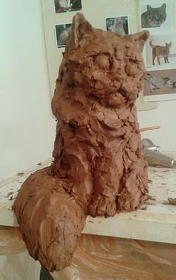 Cat - clay