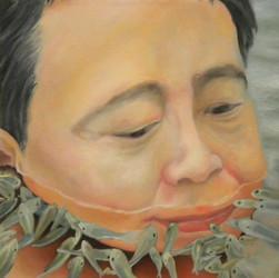 Portrait - Oil, 40X40 cm