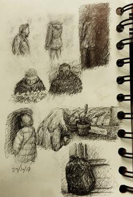 Sketchbook, Bruges, Pen