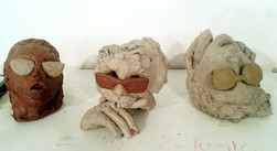Heads - clay