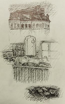 Sketchbook, Brussels, Pen