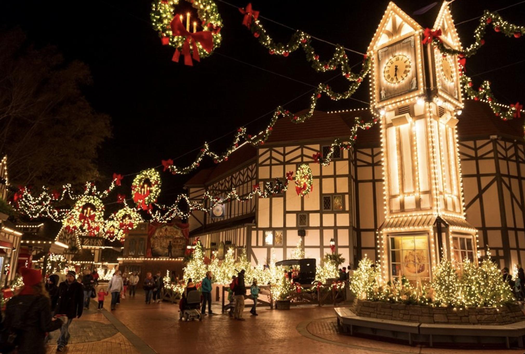 Busch Gardens Christmas Town, England Area