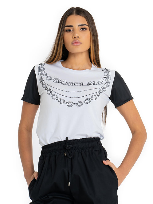 T-SHIRT CATENA BIANCA