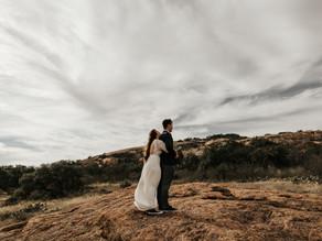 Elopement at Enchanted Rock in Fredericksburg, Texas