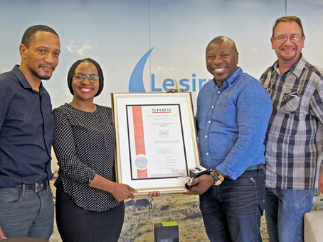 Video: SABS Mark Permit is awarded to Lesira