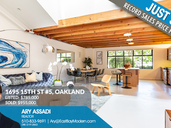 New Record Sales Price for West Oakland's Willow Court Lofts Unit #5