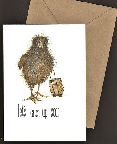 bird with a suitcase