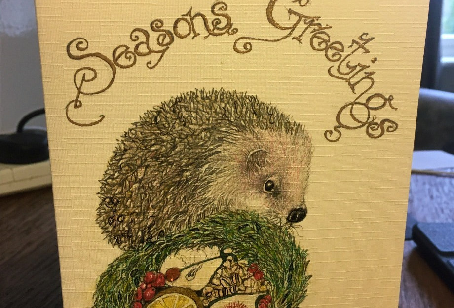 Hedgehog with Fig