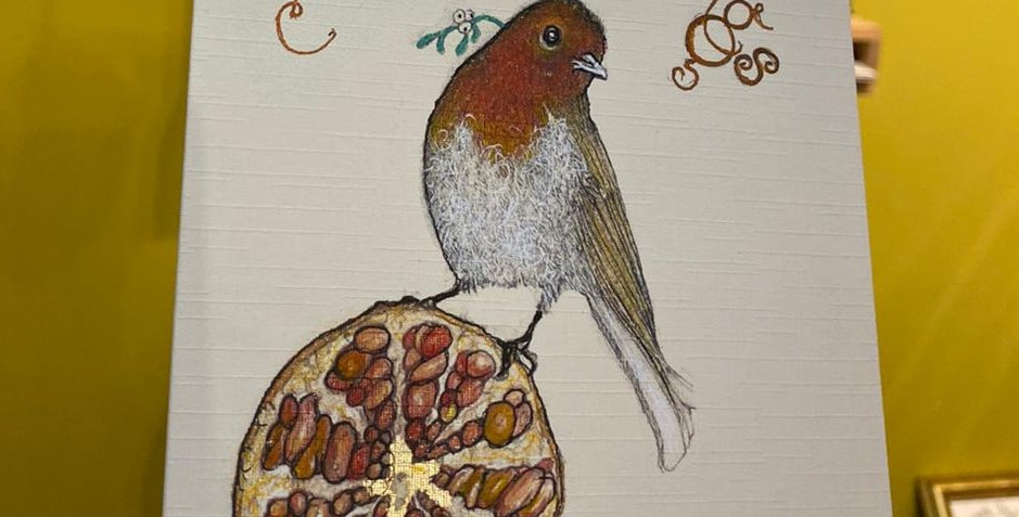 Robin and Pomegranate
