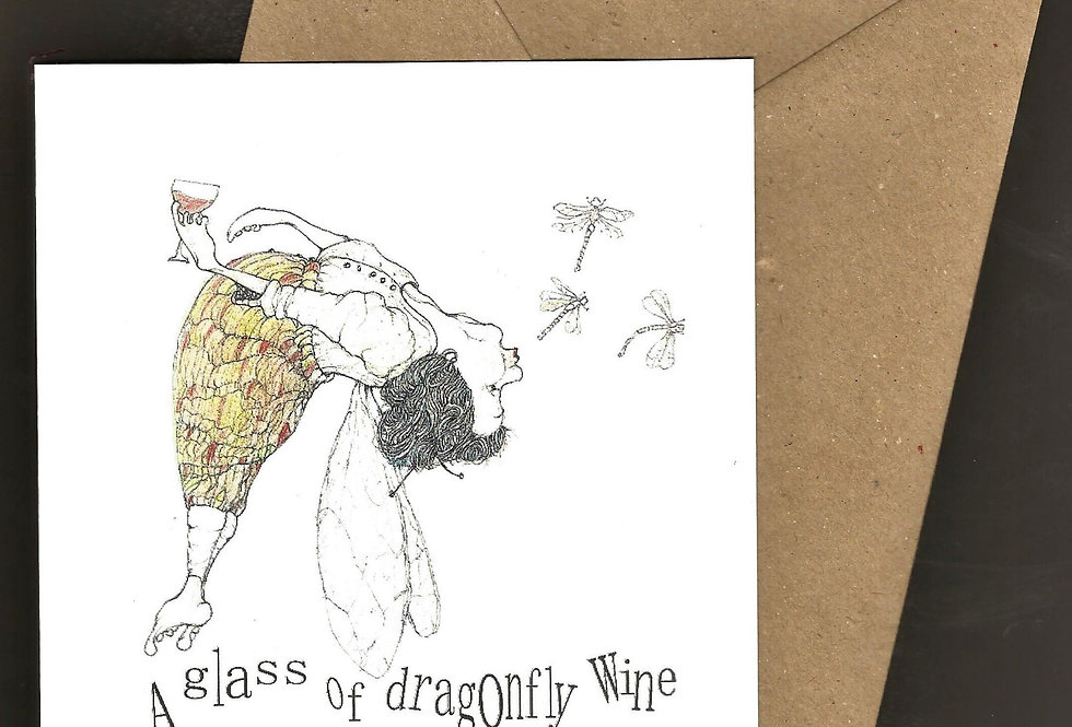 A glass of Dragonfly Wine
