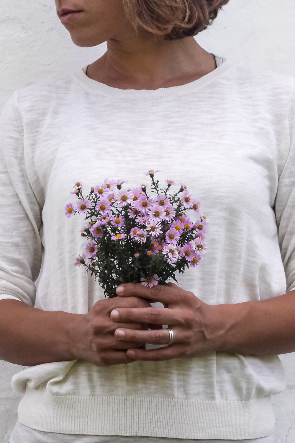 African American with Flowers who has a chronic illness