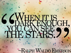 Ralph Waldo Emerson Quote with stars for chronic illness