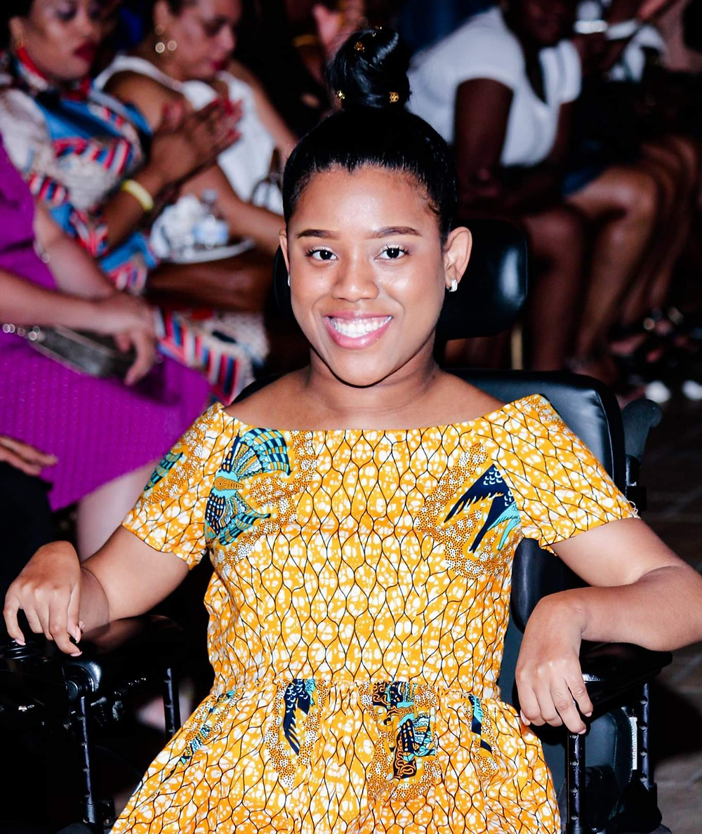 African American in wheelchair with Cerebral Palsy