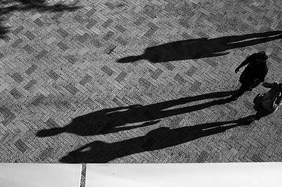 As sombras das pessoas