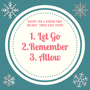 Recipe for a Stress Free Holiday. Three Easy Steps.