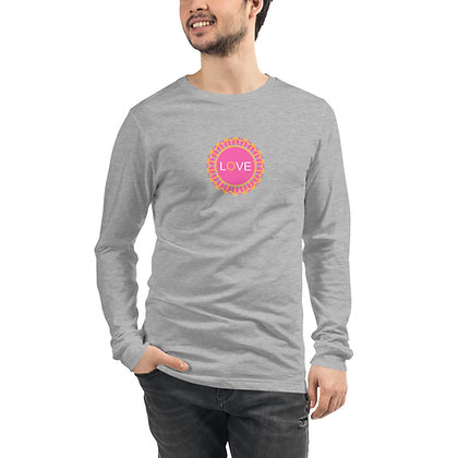 Unisex Long Sleeve Pink Love Tee
