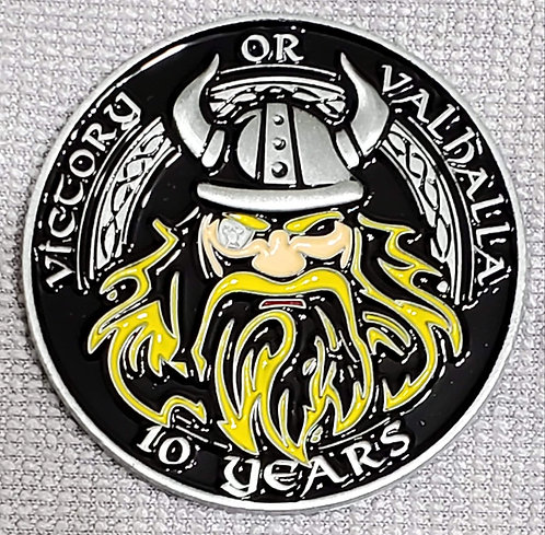 10th Anniversary Viking Army Challenge Coin