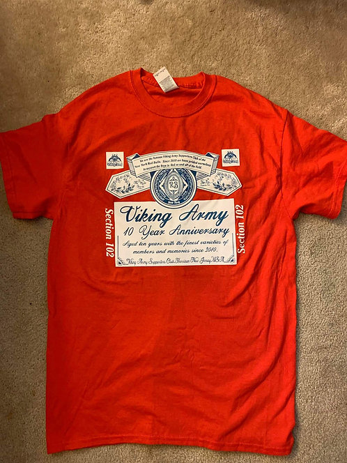 Viking Army 10th Anniversary Budweiser Shirt