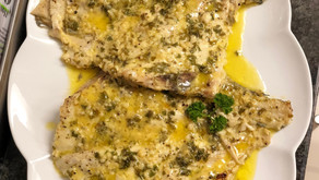 Juicy Angel Fish in a Lemon Garlic Butter Sauce