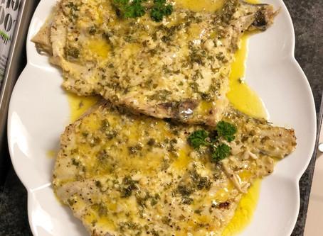 Juicy Angel Fish in a Lemon Garlic Butter Sauce