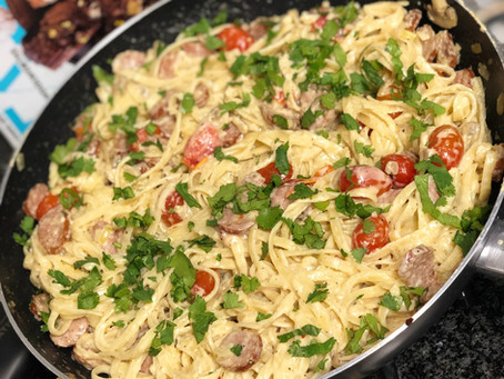 Creamy Sausage and Mushroom Pasta