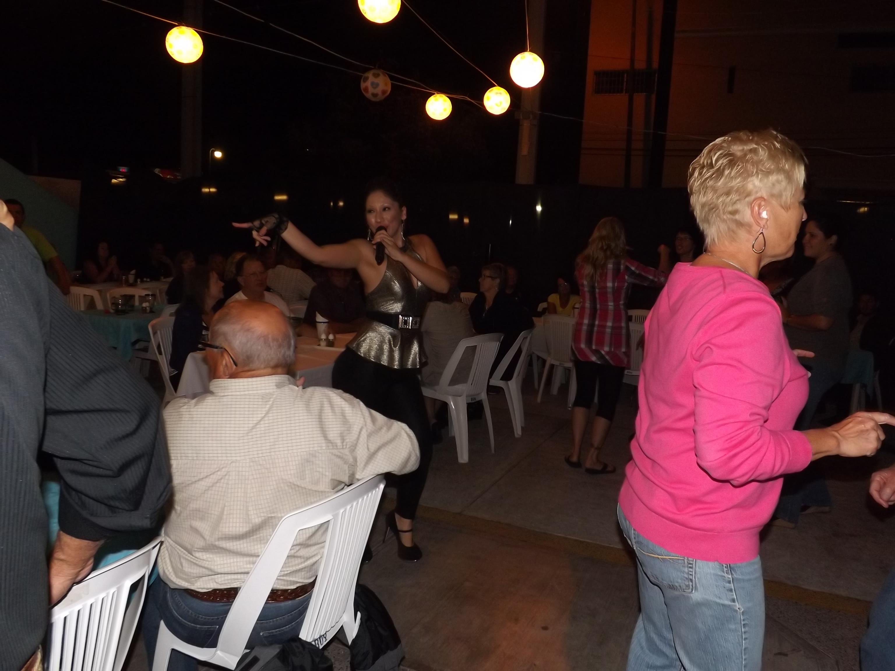 Suki on the dance floor
