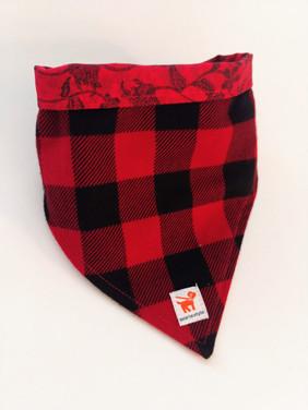 Red & Black Buffalo Check Bandana