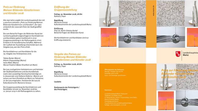 Ausstellung: Preis zur Förderung Mainzer  Künstlerinnen und Künstler 2018