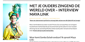 Interview Maya Link Kiind.nl Magazine