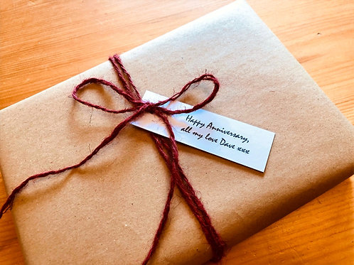 gift wrapping and personal note