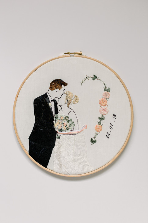Wedding Anniversary Design | Charis Esther Embroidery