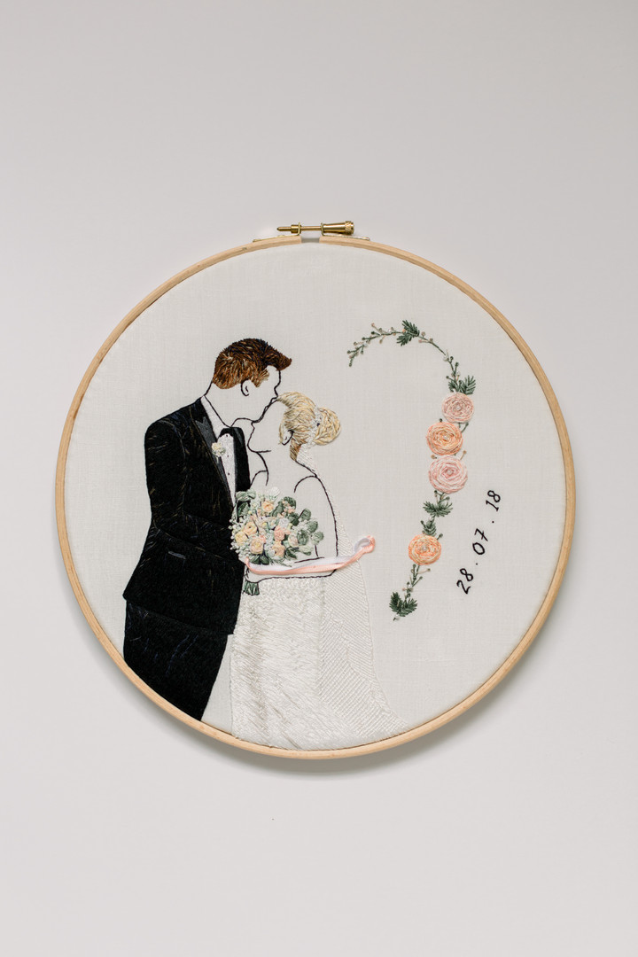 Wedding Anninversary Design | Charis Esther Embroidery