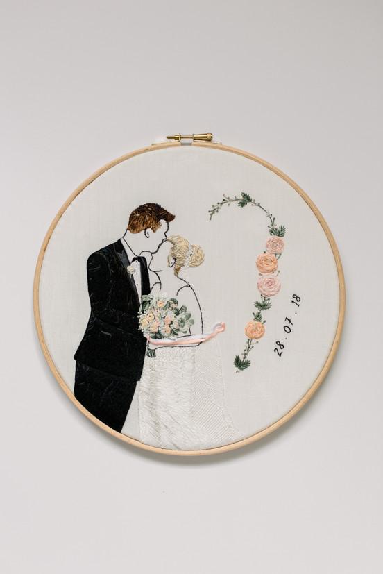 Wedding Anninversary Design | Charis Esther Embroidery