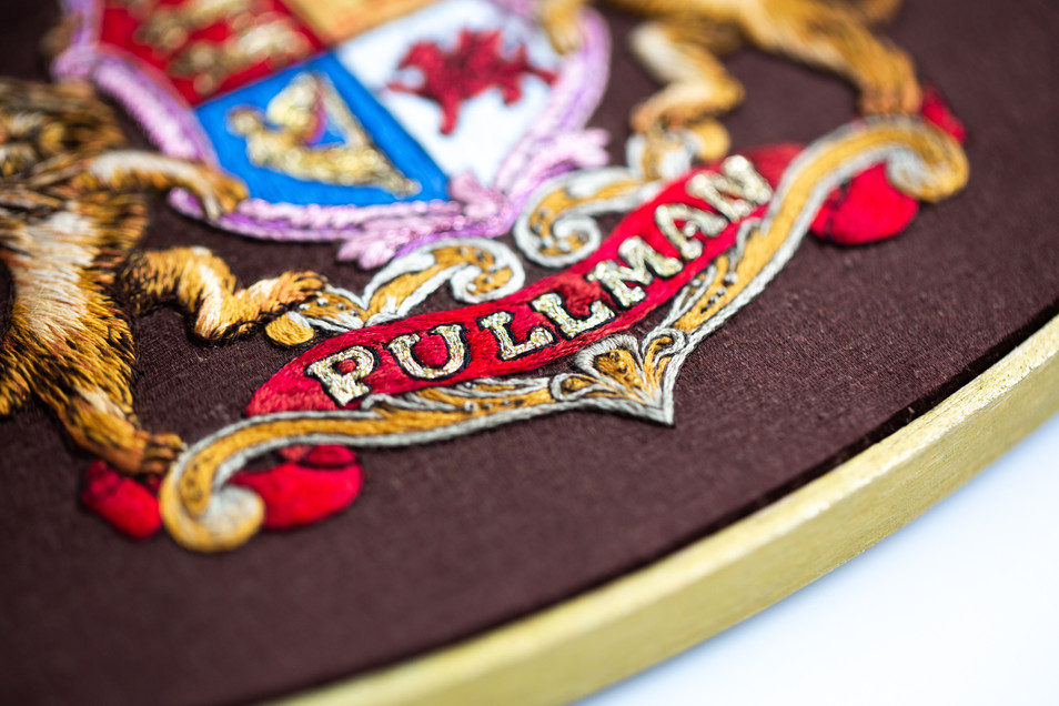 Pullman Crest   Charis Esther Embroidery