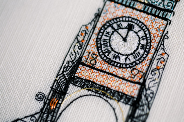The Eastgate Clock   Charis Esther Embroidery