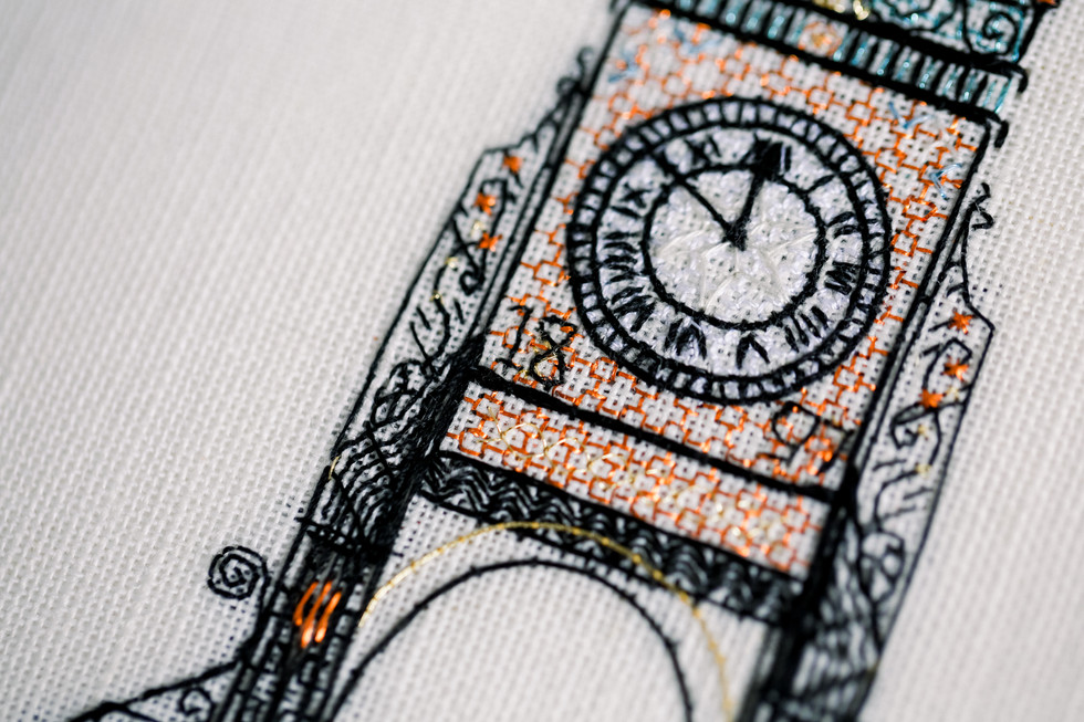 The Eastgate Clock | Charis Esther Embroidery